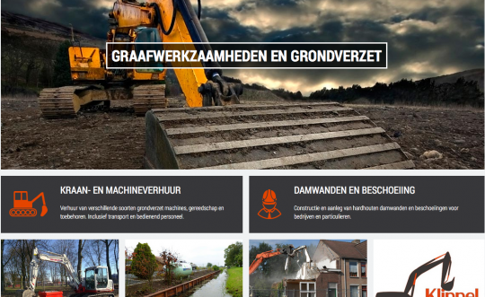Website Machineverhuur Barendrecht