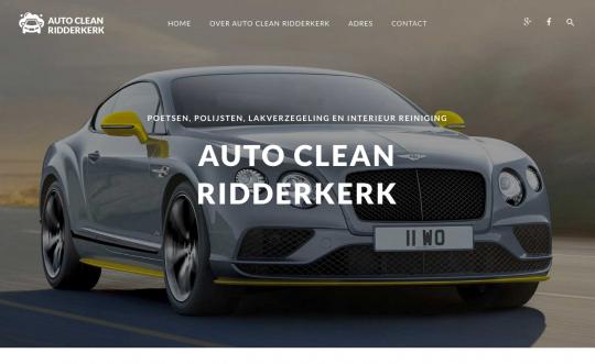 Website Auto poetsbedrijf